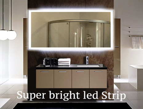 Get here superb lighted wall mirrors for bathrooms